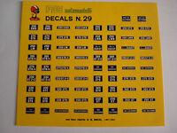 DECAL 1/43 TARGHE FERRARI 250LM DINO 365 330 400 275 500 N.29 DECALS