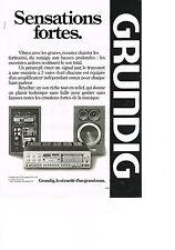 PUBLICITE ADVERTISING   1979   GRUNDIG  préampli tuner X 55