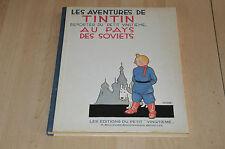 BD Tintin au pays des Soviets - Edition fac Simile dos toilé bleu