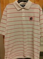 PINEHURST No. 2 2005 US Open Golf Shirt Men's XL Red White Striped Polo Golf EUC