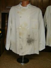 Used Bbq Chef Apparel Unisex Sz Xl Double Breasted Long Sleeve Chef Jacket Coat