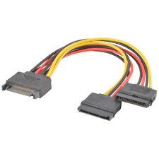 15-pin Y-Splitter Kable Adapter SATA Power Stecker to Buchse für HDD Hard Drive