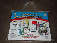 Carson Dellosa DoubleSmart Pocket Chart 228 Classroom Management Cards-NIP