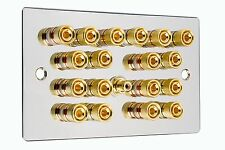 CROMATO LUCIDO 9.1 Surround Sound Speaker Wall Face PLATE GOLD Binding Post