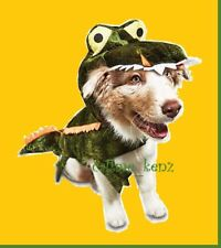 "Petco""Bootique""XS Dog/Cat Costume Alligator Crocodile Hoodie Coat Extra Small Nw"