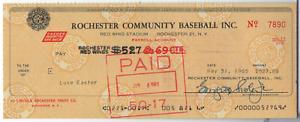 Luke Easter Cleveland Autographed 1965 Check w/COA 083121MLCD-PC3
