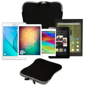 "Forefront Cases 9"" & 10"" Splashproof Neoprene Tablet Sleeve Case Cover Wallet"