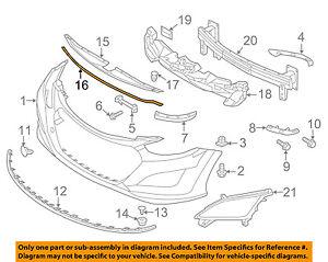HYUNDAI OEM 13-17 Elantra GT Front Bumper-Sight Shield Seal 86357A5000