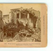 B3006 Ruins Speak In Silence Of Messina After 1908 Earthquake Italy D