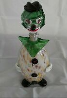 Murano Hand Blown Heavy Art Glass Decanter  Clown