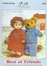VAT Free Teddy Doll Outfits KNITTING PATTERNS ONLY Teddy Book Best Friends 618