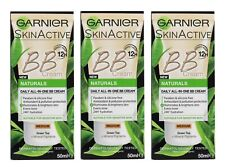 3 X GARNIER 50mL SKINACTIVE BB CREAM DAILY ALL-IN-ONE PERFECTING CARE MEDIUM