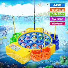 Adulto Bambino Bimbo Divertimento Estivo Tempo Pesca Elettrico Girevole Musica
