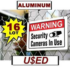 16 Scratch and Dent Metal Warning Store Security Video Cameras Yard Fence Signs