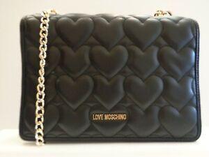 LOVE MOSCHINO Heart Chain Shoulder Bag Ref BAG452^