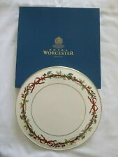ROYAL WORCESTER HOLLY RIBBONS CAKE PLATE / PLATTER