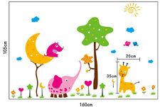 Animal World Wall Stickers Removable Kids Nursery Room Decal Home Decor