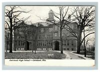 Oshkosh WI, Oshkosh High School, Wisconsin c1908 Postcard Z54