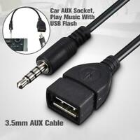 Audio AUX Jack 3.5mm Male to USB 2.0 Type A Female Converter Adapter Cable E5I0