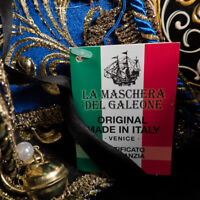 Venetian Mask: Italy. Joly with Tassels (Blue Color)