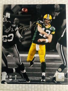 Aaron Rodgers signed 8x10 SB XLV photo Green Bay Packers Steiner hologram