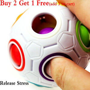 Intelligent Puzzle Rainbow Ball Stress Relief Fidget Toy Gift for Kids Adults