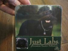 NIP JUST LABS DOGS PHOTO PREMIUM COASTERS SET X4 BIG SKY CARVERS