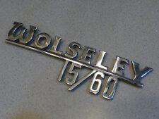 Wolseley 15/60 Script emblem badge ornament script J Fray Ltd BS.1004
