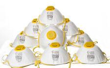 10x Atemschutz Maske Feinstaubmaske Schutzmaske Staubschutzmaske mit Ventil FFP1