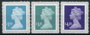 GB Machin Definitives Stamps 2021 MNH 2021 Tariff Queen Elizabeth II 3v S/A Set