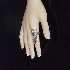Goth stile punk anello avvolto serpente, formato BRITANNICO P