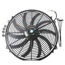 16 inch Universal Slim Fan Push Pull Electric Radiator Cooling 12V w/ Mount Kit