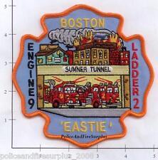 Massachusetts - Boston Engine 9 Ladder 2 MA Fire Dept Patch v1 - Eastie