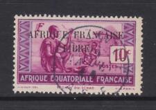 French Eq. Africa - SG 113 - f/u - 1940 - 10c - Chad Family - overprinted