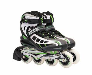 Inline Skates for Women Size 9 Roller Skates ABEC 9 Blades Adults Black Green