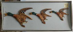 Bossons . Flying Ducks .  set of 3 . Original Box .