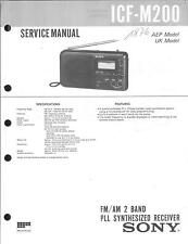 Sony Original Service Manual  für ICF-M200