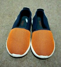 ZARA Baby Boys Navy & Orange Casual Slip On Canvas Beach Shoes EU 22 UK 5 Infant