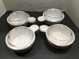 CORNING WARE SET OF 4 GRAB IT STYLE BOWLS WITH GLASS LIDS 15 OUNCE EXC