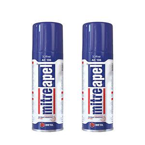 Mitreapel Activator Spray (3.4) fl oz Aerosol Accelerator for CA Super Glues