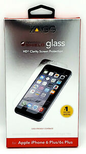 New Tempered Glass Screen Protector by Zagg for iPhone 8 Plus / 7 Plus / 6s Plus