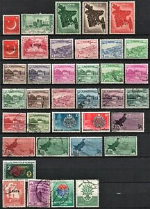 Pakistan  Lot of 37 stamps