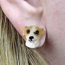 Conversation Concepts Whippet Tan & White Earrings Post