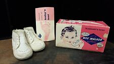 Vintage 1960s WEE WALKER Baby Or Doll SHOES W Original box and paper A4-11