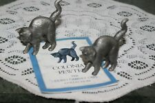 "Lot Of 2.Franklin Mint. ""Colonial Cat"" Fine Pewter