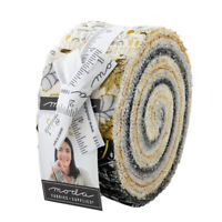 Moda Fabric Jelly Roll Bee Grateful by Deb Strain. 40 strips of 2.5 ins