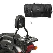 Sissybar cl3 + bolsa popa rb1 para Kawasaki VN 900 light 10-14 con portaequipajes