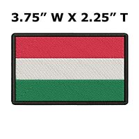 HUNGARY FLAG embroidered iron-on PATCH HUNGARIAN EMBLEM New