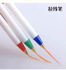 3 PCS NAIL ART DRAWING LINE Striping Brush Pen Design Acrylic Painting Tools Kit