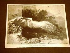 Stradella nel 1887 Letto di morte Agostino Depretis De Pretis di Mezzana Corti